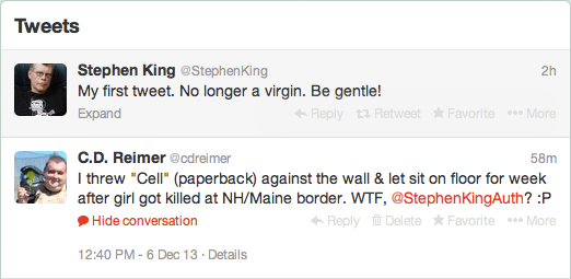 The Real Stephen King On Twitter